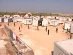 Syrian refugee camp at the border with Jordan