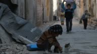 Syrians return alBab town after Turkeybacked Free Syrian Army took control of the town center from Daesh terrorists as part of the ongoing 'Operation...