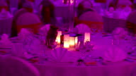 Table decorations with candles