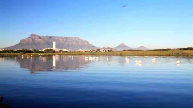 Table Mountain across lagoon