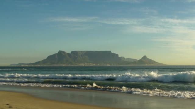 WS Table Mountain seen from Table Bay beachfront / Cape Town/ Western Cape/ South Africa