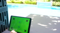 tablet green screen for relax