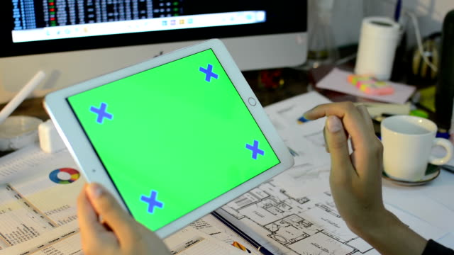 Tablet PC grön skärm