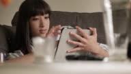 Tablet sofa woman C