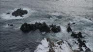 Tachimachi cape  Tsugaru strait  snowstorm  troubled waters