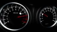 tachometer dashboard sports car