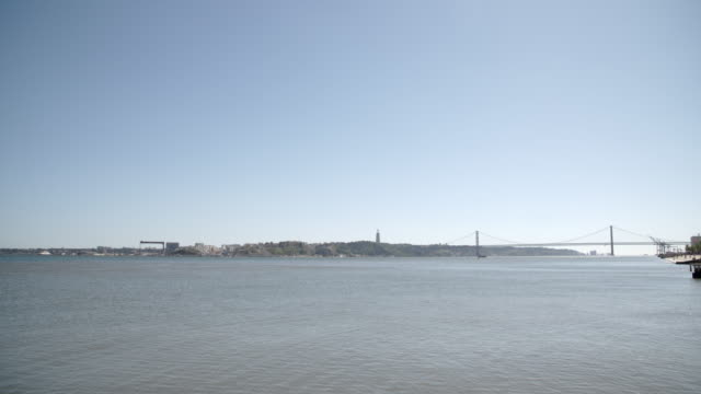 Tagus River and the Ponte 25 de Abril Bridge / Lisbon, Portugal