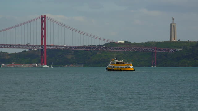 Tagus River near the Ponte 25 de Abril, Belem, Lisbon, Portugal