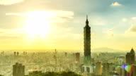 Taipei 101 timelapse day to night