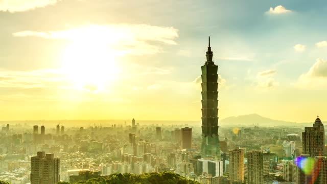 Taipei 101 timelapse day to night