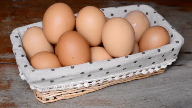 Nimm die Eier aus dem Korb