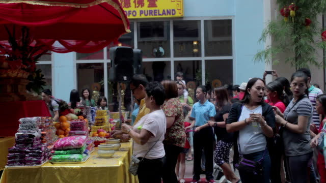Taken during the Chinese New Year Celebration in Lucky China Town Manila Philippines on February 8 2016 People celebrating in the streets during the...