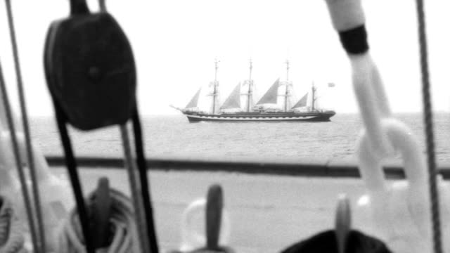 Tall ship - stylized old movie