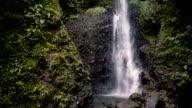 Tall Waterfall on a Tropical Island