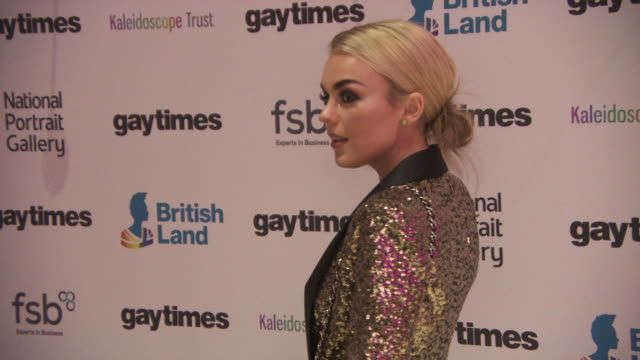 Tallia Storm at Gay Times Honours Awards at National Portrait Gallery on November 18 2017 in London England