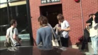 Tame Impala packing up and loading their instruments into van at JBTV studios in Chicago