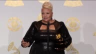 SPEECH Tamela Mann at the 59th Annual Grammy Awards Press Room at Staples Center on February 12 2017 in Los Angeles California