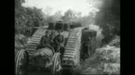 C5 Tank 'Creme de Menthe' passes / tank in 'no man's land