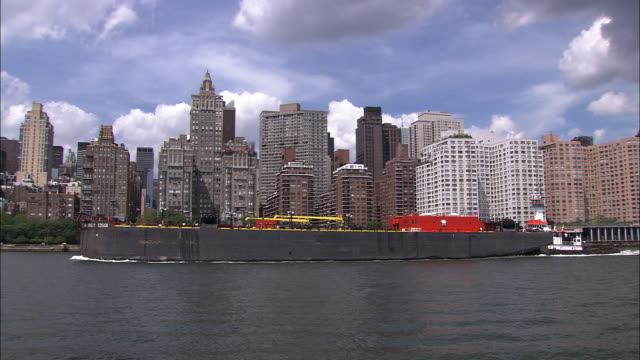 Tanker travels down East River