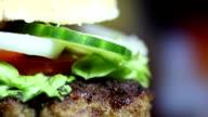 Gustoso hamburger, primo piano