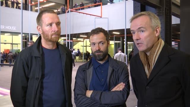 Danish artists' collective Superflex Turbine Hall swing exhibit One Two Three Swing Bjornstjerne Christiansen Jakob Fenger and Rasmus Nielsen...