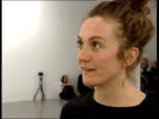 Vanessa Beecroft interview at Gagosian Gallery exhibition opening ENGLAND London Gagosian Gallery EXT Entrance to gallery staff outside / Guests...