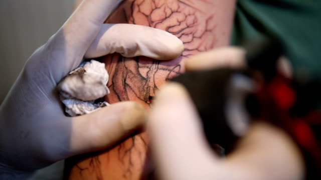 Tattoo in making