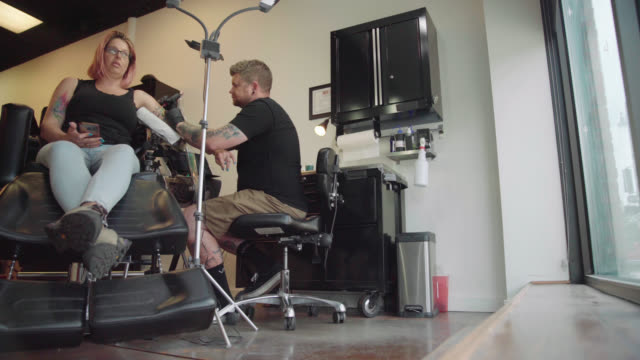Tattoo Studio - Low Angle Shot