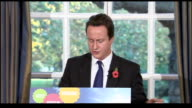 David Cameron press conference Cameron answering questions from journalist about whether the Conservative party is providing a disincentive for...