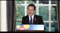 David Cameron press conference ENGLAND London INT David Cameron MP press conference SOT Today we remember all those who have made the ultimate...