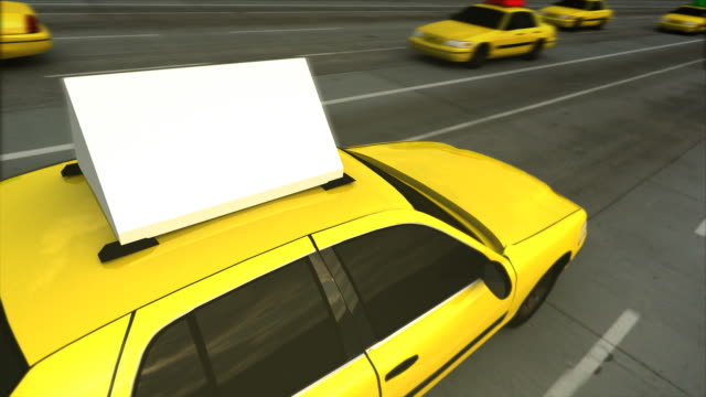 Taxi Advertising Message Board (Loop)