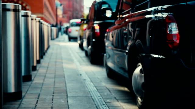 Taxi cabs queue in London