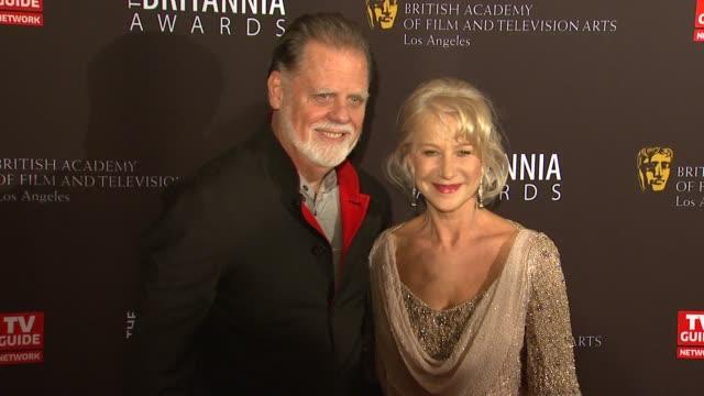 Taylor Hackford Helen Mirren at the BAFTA Los Angeles 2011 Britannia Awards at Beverly Hills CA