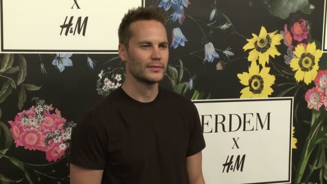 Taylor Kitsch at HM x ERDEM Runway Show Party at The Ebell Club of Los Angeles on October 18 2017 in Los Angeles California