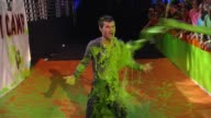 Taylor Lautner gets slimed at Nickelodeon's 25th Annual Kids' Choice Awards on 3/31/12 in Los Angeles CA