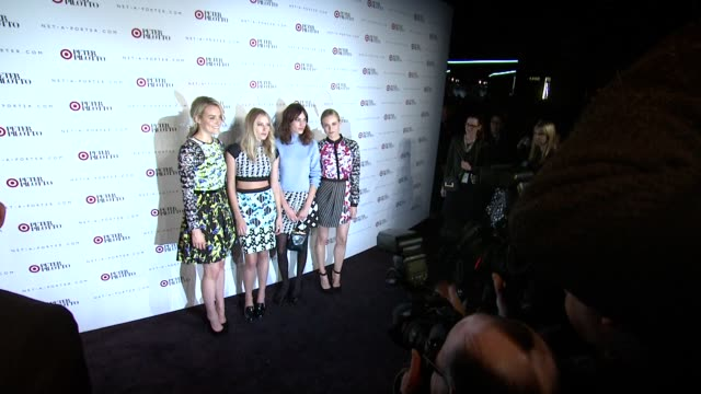 Taylor Schilling Dree Hemingway Christopher De Vos Alexa Chung Peter Pilotto and Diane Kruger at Peter Pilotto For Target Launch Event at Gotham Hall...