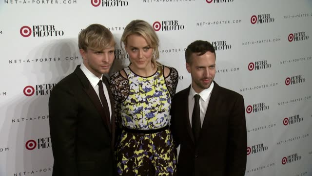 Taylor Schilling Peter Pilotto and Christopher De Vos at Peter Pilotto For Target Launch Event at Gotham Hall on February 6 2014 in New York City