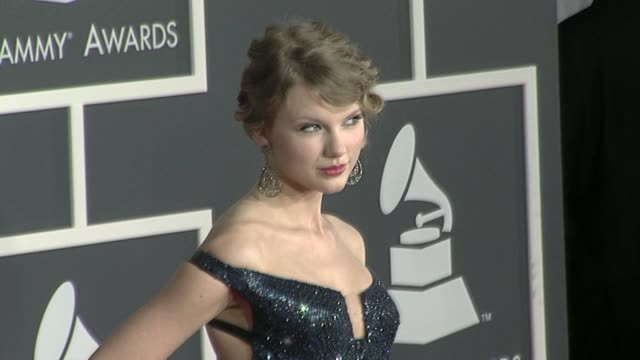 Taylor Swift at the 52nd Annual GRAMMY Awards Arrivals at Los Angeles CA