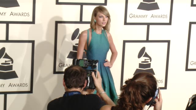 Taylor Swift at The 57th Annual Grammy Awards Red Carpet at Staples Center on February 08 2015 in Los Angeles California