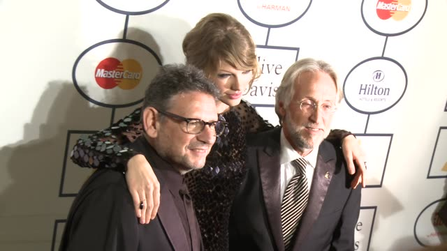 Taylor Swift Lucian Grainge Neil Portnow at 2014 Grammy Salute To Industry Icons Honoring Lucian Grainge in Los Angeles CA