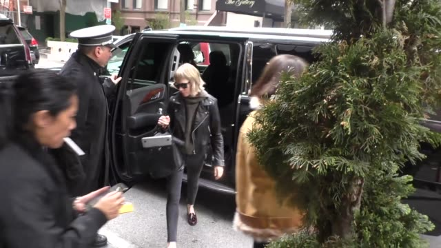 Taylor Swift outside The Carlyle Hotel in New York in Celebrity Sightings in New York