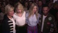 Taylor Swift Yolanda Hadid model Martha Hunt and racing formula 1 Lewis Hamilton at the Tommy Hilfiger Ready to Wear Fashion Show Spring Summer 2017...
