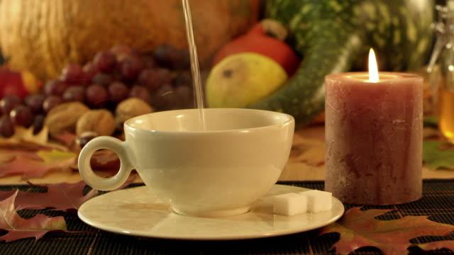 tea, honey, lemon