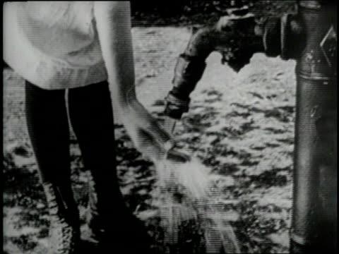 Anne Sullivan And Helen Keller Water Pump