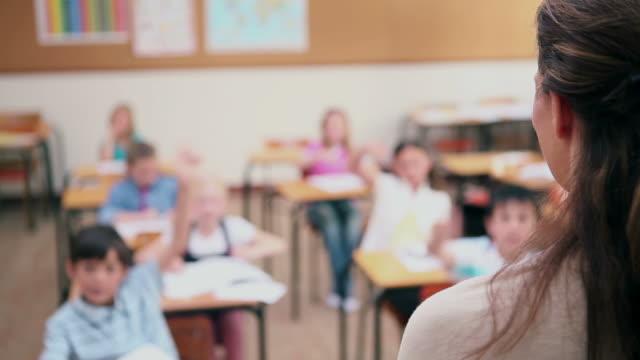 Teacher asking a question