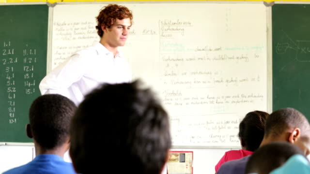 Teacher giving class