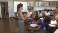 Teacher Instructing In High School Classroom