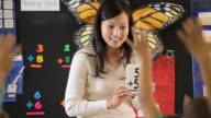 CU PAN Teacher teaching maths in classroom with flash cards / Richmond, Virginia, United States