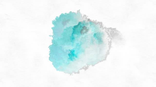 teal paint drop