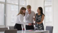 WS A team discuss a business project